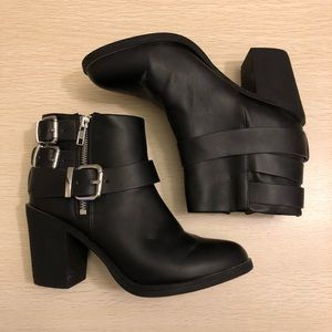 Divided | Black Ankle Booties